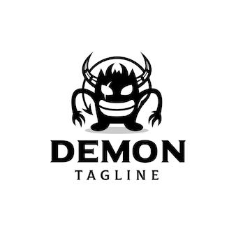Modello di logo del piccolo demone