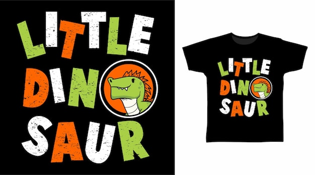 Disegno della maglietta tipografia piccolo dinosauro
