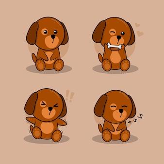 Un piccolo personaggio di cane