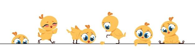 Design del telaio di piccoli personaggi piatti per biglietti di auguri