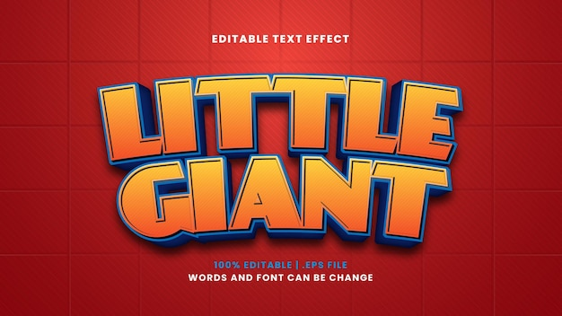 Piccolo effetto di testo modificabile gigante in moderno stile 3d