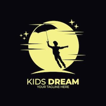 Ispirazione per il design del logo dei sogni dei bambini piccoli