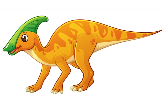 Little parasaurolophus cartoon illustrazione