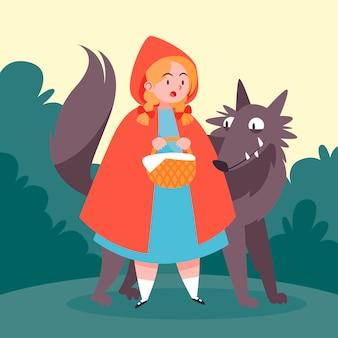 Cappuccetto rosso illustrazione