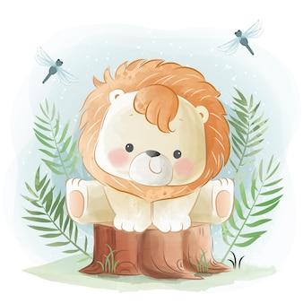 Piccolo safari con piccolo leone