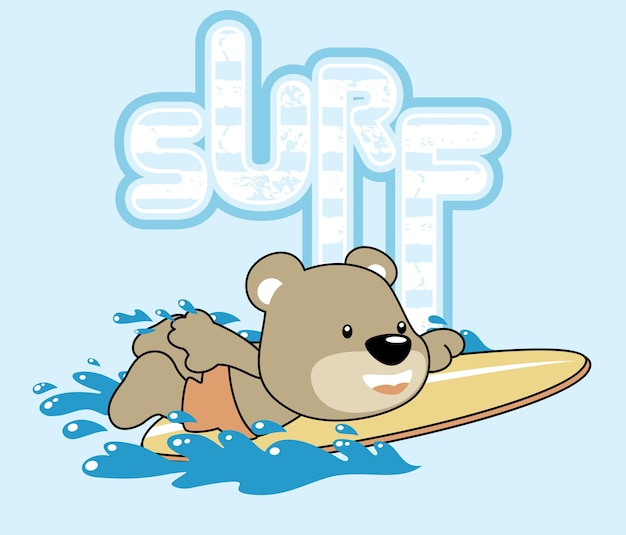 Piccolo cartone animato surfista