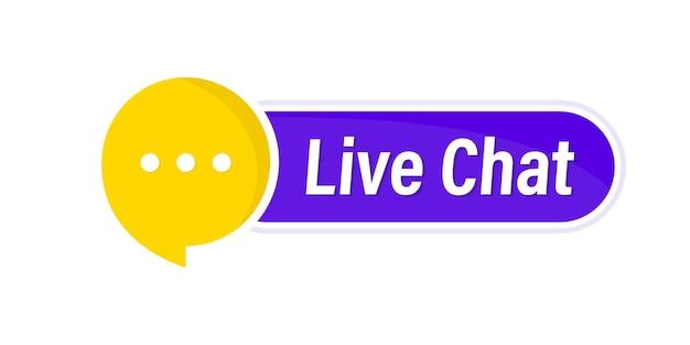 Pulsante di chat dal vivo. call center di supporto online. servizio clienti. icona chat messenger per landing page web, interfaccia utente, app mobile, modello banner. pulsante di assistenza clienti chat online per consigli