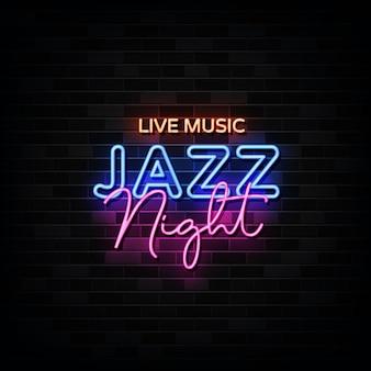 Musica dal vivo. jazz night neon.