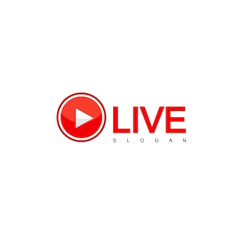 Live steam design vector, logo tv