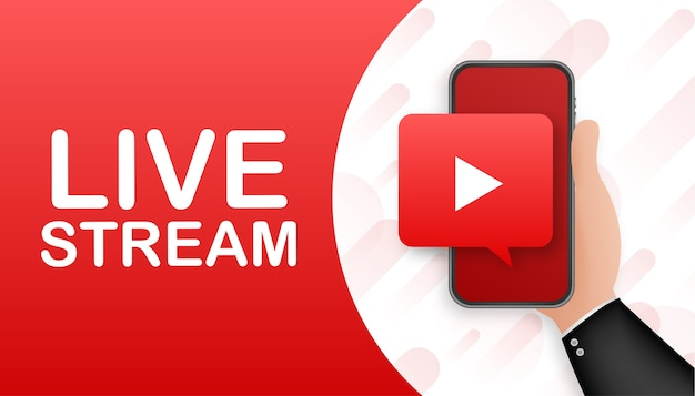 Banner di live streaming