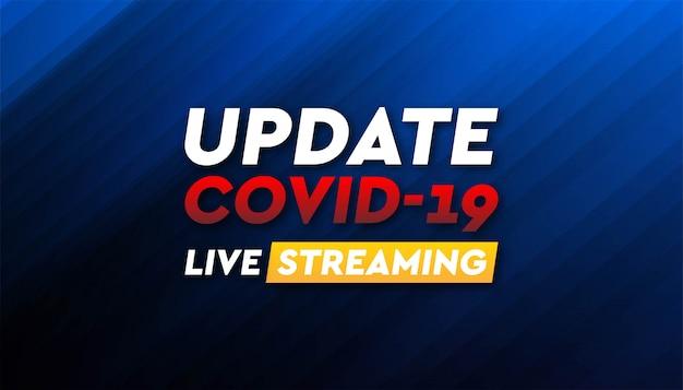 Modello di sfondo banner coronavirus in diretta streaming.