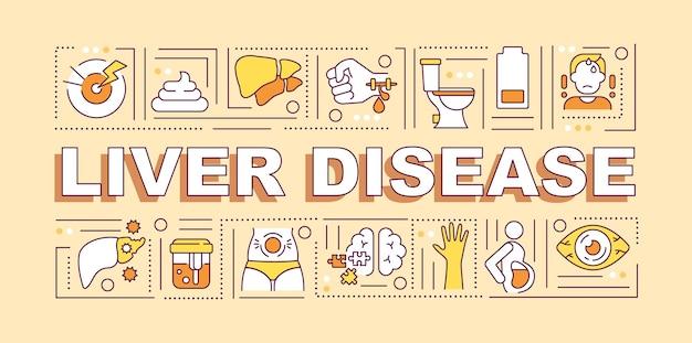 Banner di malattie del fegato