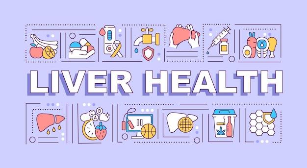 Banner di salute del fegato