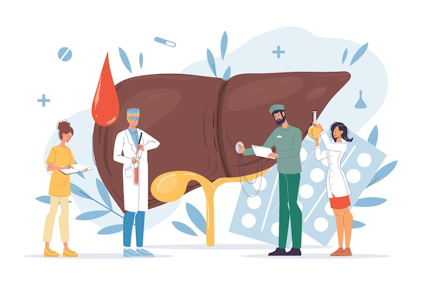 Diagnosi della malattia di cirrosi dell'esame degli organi interni del fegato