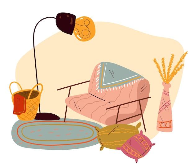 Concetto interno domestico domestico del salone
