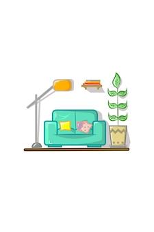 Illustrazione vettoriale set soggiorno