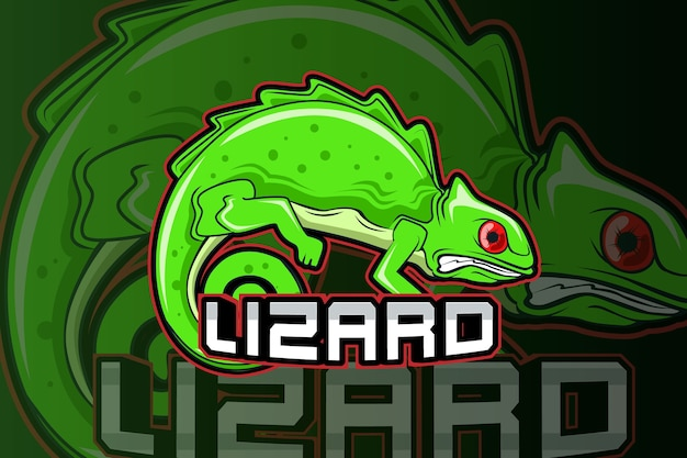Modello di logo della squadra di e-sport lizard