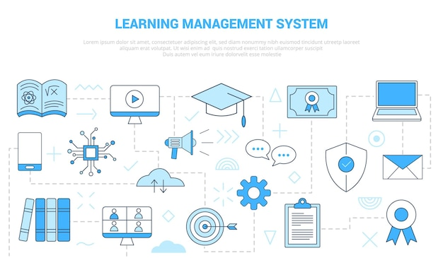 Lms learning management system concept