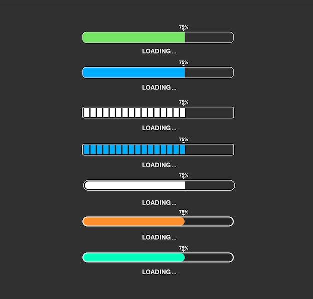 Caricamento barra grande set per app di gioco