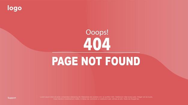 Caricamento della pagina per i siti pagina di errore pagina non trovata errore 404 errore ooops