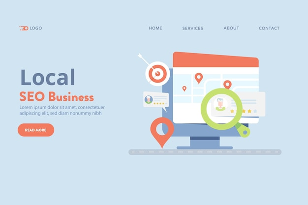 Local seo business vector
