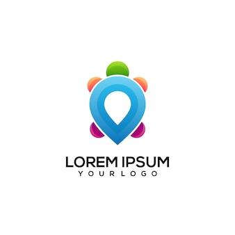 Illustrazione colorata del logo della tartaruga locale