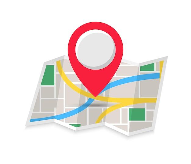 Icona di colore piatto posizione simbolo di navigazione alla moda per l'app mobile per la progettazione di siti web