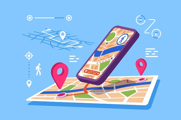 Illustrazione dell'applicazione in linea delle mappe di posizione