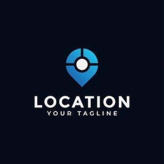 Posizione, punto, gps, posizione, navigazione della mappa, posiziona logo design