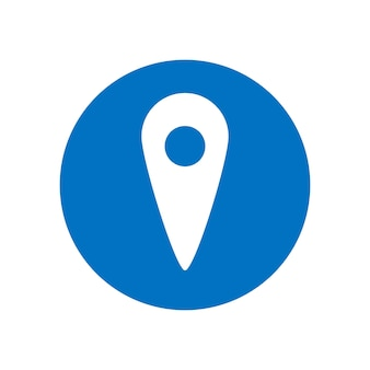 Icona di vettore di posizione. puntatore della mappa. simbolo di posizione gps. illustrazione di concetto di vettore piatto isolato su sfondo bianco