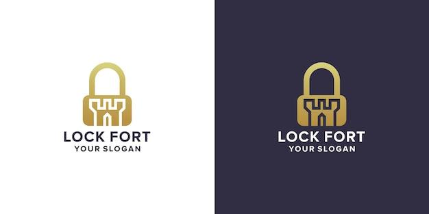 Design del logo della fortezza di blocco