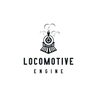 Locomotiva motore o treno logo design