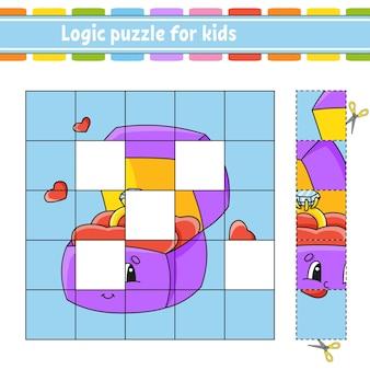 Puzzle di logica per bambini. foglio di lavoro per lo sviluppo dell'istruzione.