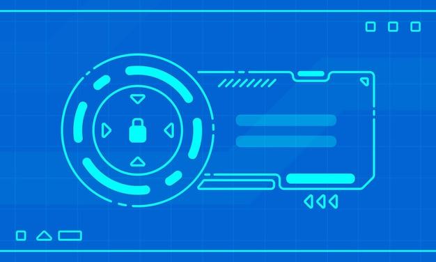 Cornice della pagina di accesso hud design dell'interfaccia futuro