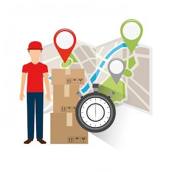 Concetto di consegna logistica