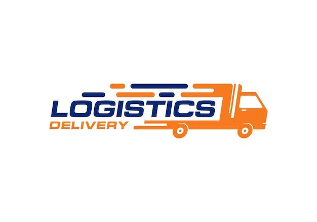 Consegna logistica, modello di progettazione del logo con spedizione rapida espressa