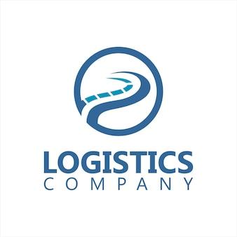Logo logistico semplice strada vettore cerchio