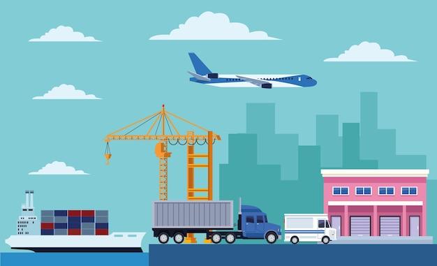 Scena del servizio logistico