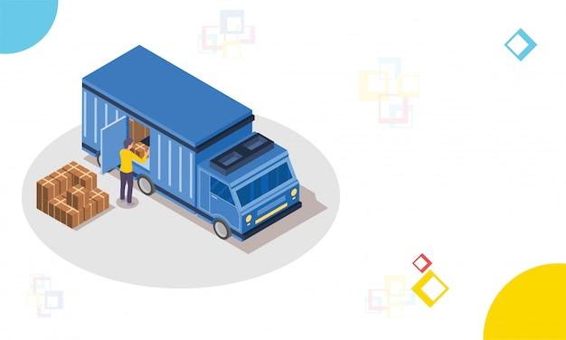 Logistica o concetto di trasporto.