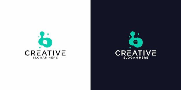 Logo b bubble chat graphic design per altri usi è molto adatto