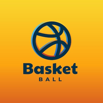 Logo basket line art style