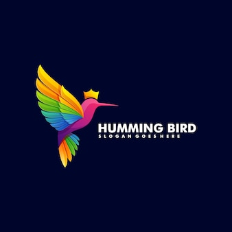 Logo bird gradient colorful style.