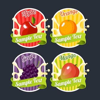 Raccolta di logo disegno di frutta