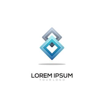 Logo colorato gradiente illustrazione
