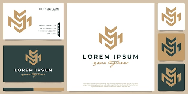 Logo combinato con le lettere m e s, minimalista