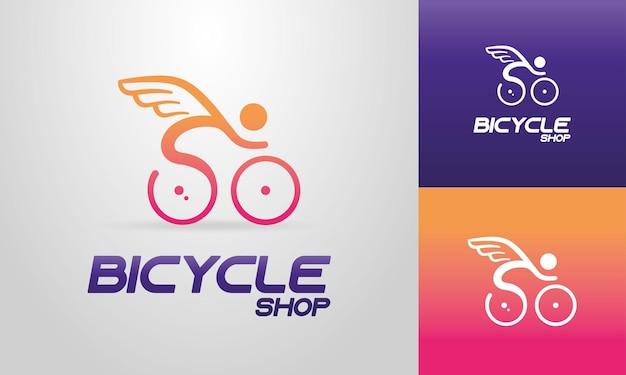 Concetto di logo per negozio di biciclette