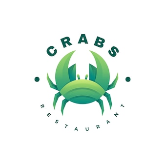 Logo crabs gradient colorful style.