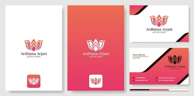 Logo design fiori di loto astratti con sagome di persone yoga meditazione fitness salute, bellezza spa vector fiori di loto design logo