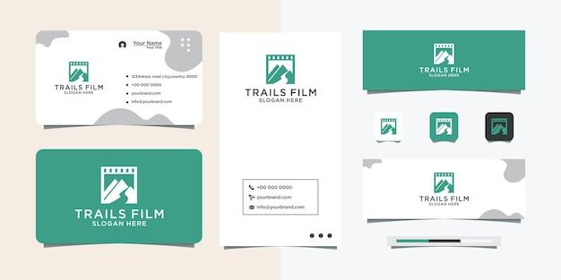 Logo design per film di arrampicata e biglietto da visita