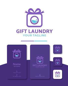 Lavanderia regalo con logo design
